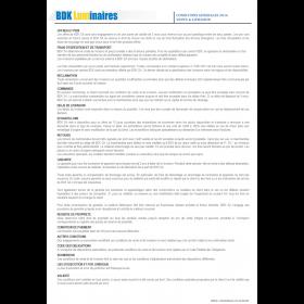 Conditions générales de vente 2018