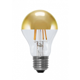 LED Bulb Mirror Head golden