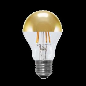 LED Bulb Mirror Head golden