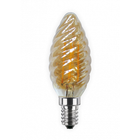 LED Candle Twist golden
